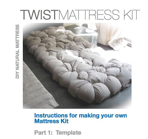 DIY Your Own Comfortable U0026 Natural Mattress , Template Available For  This Unique Design For Under