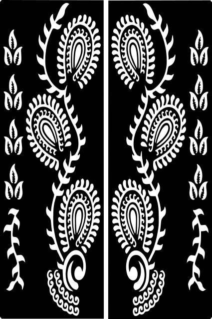 Varietà Henna tatuaggio temporaneo Glitter Stencil Sticker