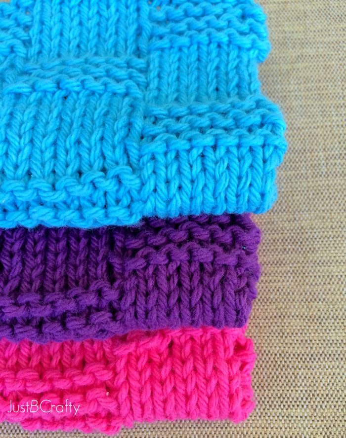 Free Crochet Pattern For Basket Weave Dishcloth : 1000+ images about Knitting on Pinterest Dishcloth, Knit ...