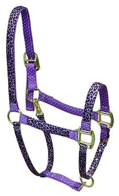 Purple Leopard Purple Polka High Fashion Breakaway Halter - Red Haute Horse