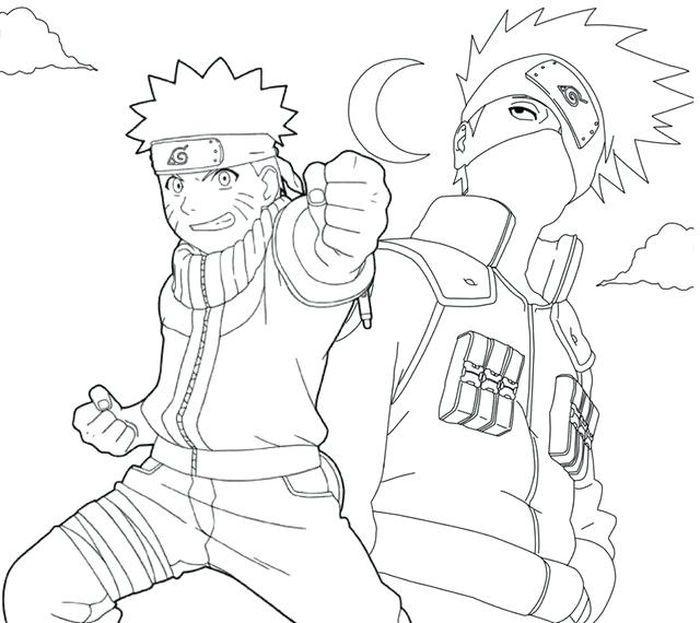 Naruto Coloring Pages Kakashi Chibi Coloring Pages Cartoon Coloring Pages Coloring Pages