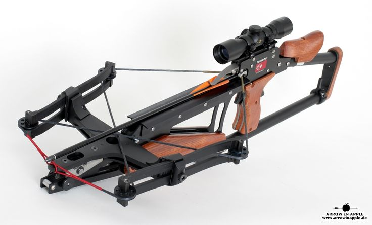 Twinbow II crossbow, it can be cocked in three seconds and fire a bolt at a speed of 370 feet/sec