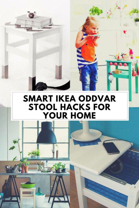 20 Smart IKEA Oddvar Stool Hacks For Your Home | DigsDigs