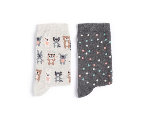 Chaussettes hautes petits animaux - OYSHO - 6,99 €