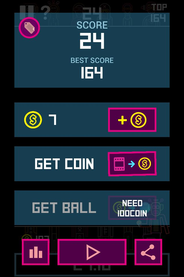 Swag! I finally broke 24 stage in #BBTAN Can you beat me?