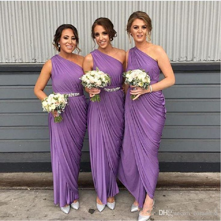 2017 Cheap Purple Bridesmaid Dresses With Crystals Beaded Sash Ruffles Party Prom Gowns Chiffon Sheath Bridesmaid Gowns Long Floor Length Bridesmaid Dresses Wedding Party Dresses Bridesmaids Formal Dresses Online with $117.24/Piece on Caradress's Store | DHgate.com