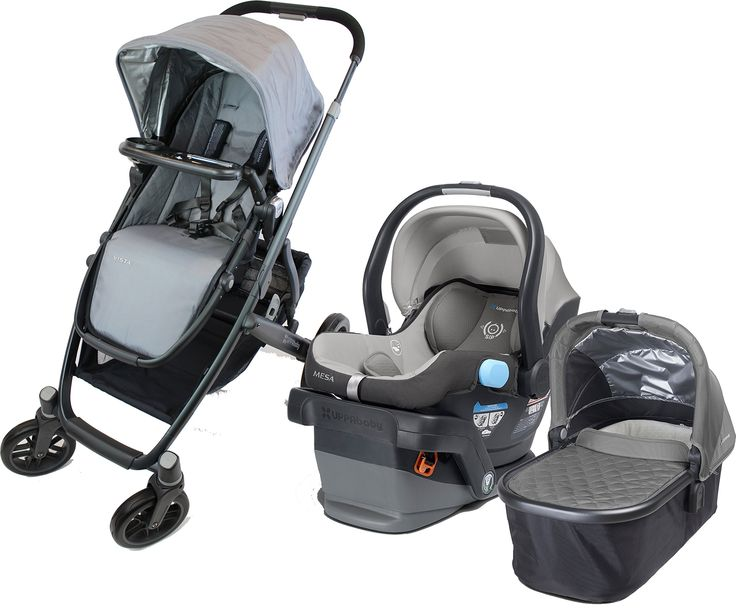 UPPAbaby 2015 Vista Travel System with Snack Tray, Pascal. Includes 2015 Vista Stroller with Bassinet, 2015 Mesa Infant Car Seat, and Snack Tray. RECALLED BUMPER BAR REMOVED AND REPLACED WITH INTERCHANGEABLE SNACK TRAY. New 2015 design can comfortably hold 2 MESA infant car seats, 2 bassinets, or 2 toddler seats. Aluminum alloy / Magnesium frame. Perfect travel system for a growing family.