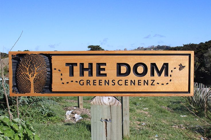 kauri wooden sign, had fun making this one