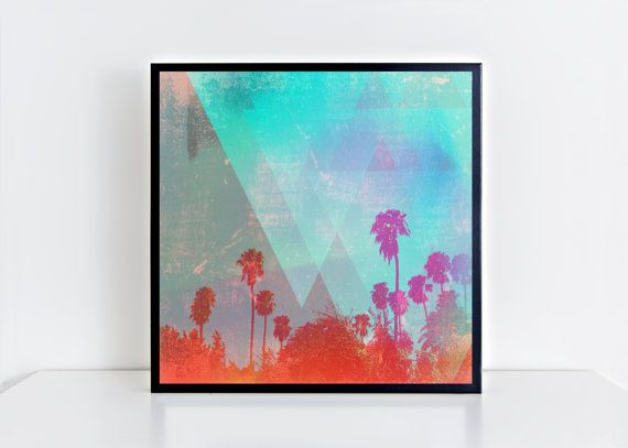 16x16, 20x20 Travel Part 2. Square Matte Photo Print.Fine art print.Palm trees. Photography.Art.Horizon. Home decor. Wall art. Gifts