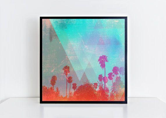 12x12 Travel Part 2. Square Matte Photo Print.Fine art print.Palm trees. Photography.Art.Horizon. Home decor. Wall art. Gifts