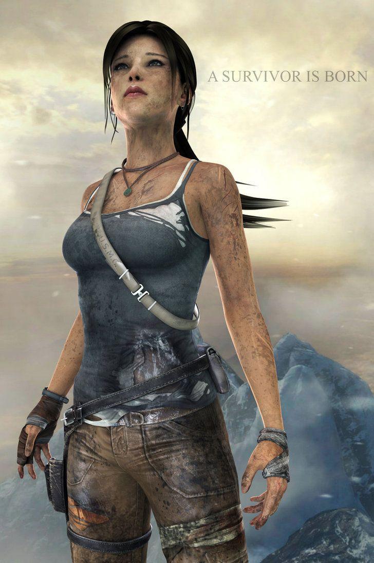 Credits: Model: Lara By Hair By ??? Background: By Program used: XNALara Blender 2.67