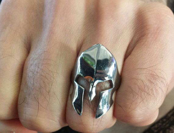 Check out this item in my Etsy shop https://www.etsy.com/listing/482177311/spartan-warrior-helmet-sterling-silver