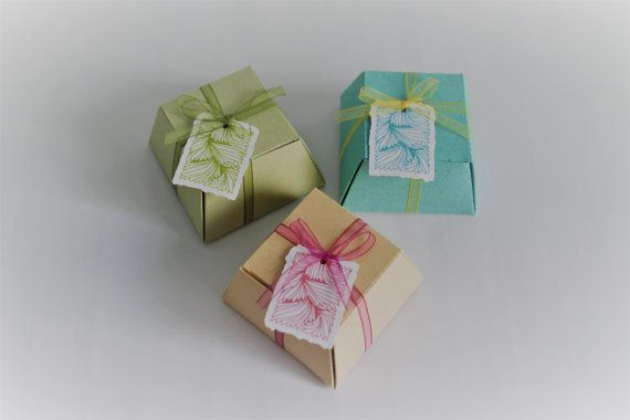 20 Handmade gift boxes Wedding Favor boxes Scatoline di PickaPack