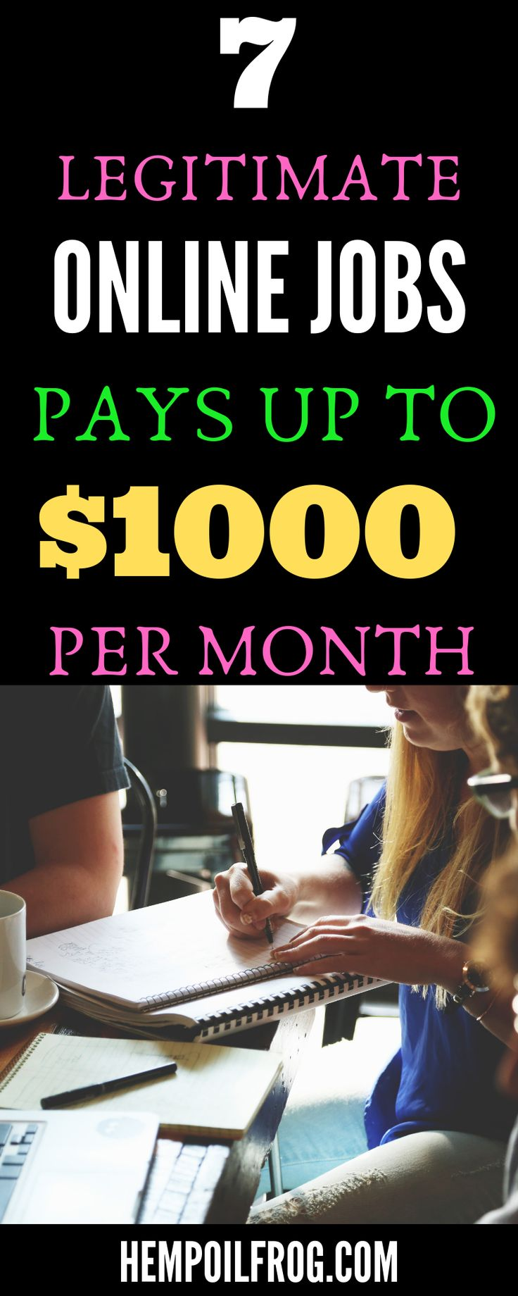 7 Legitimate Online Jobs Where You Can Earn Over $1K a Month