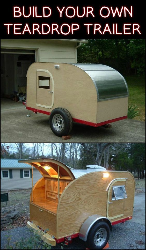 This DIY Teardrop Trailer Measuring 4x8 Can Accommodate Two People For Sleeping