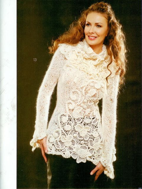 Irish crochet &: IRICH LACE SWEATER ... СВИТЕР ИРЛАНДСКИМ КРУЖЕВОМ