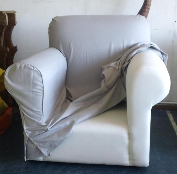 Slip covers and arm covers made to order or per individual couch/chair. We make these loose covers for any type furniture from dinning room chairs, wing back chairs, corner couches, 2 seater couches and ottomans.These covers are made in quality bull denim fabric which is hand and machine washable. Other range of fabrics in various colours available. Our workmanship is of quality standard with neat finishing like pipping, top stitching, skirting, pleating and many more.Our lead time on…