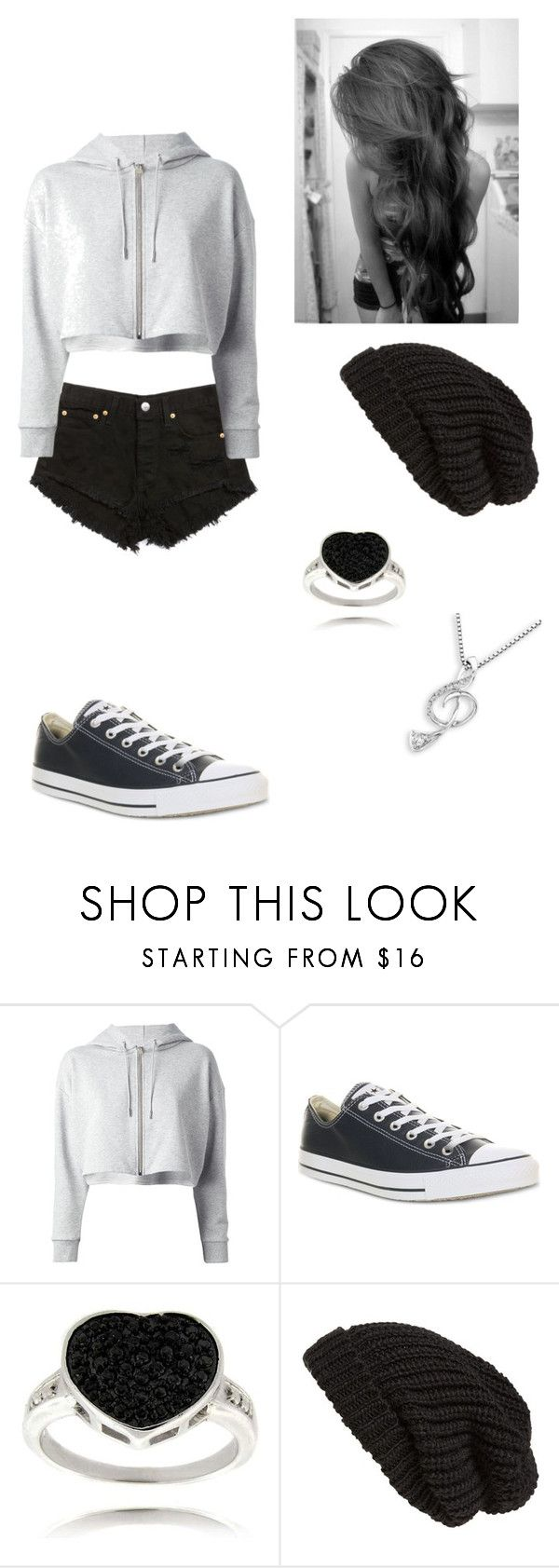 """""""Untitled -59-"""" by heaven-cedeno ❤ liked on Polyvore featuring Yves Saint Laurent, Converse, Finesque, Tarnish and MaBelle"""