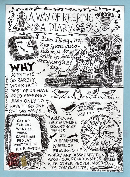 "Lynda Barry, ""A Way of Keeping A Diary"""