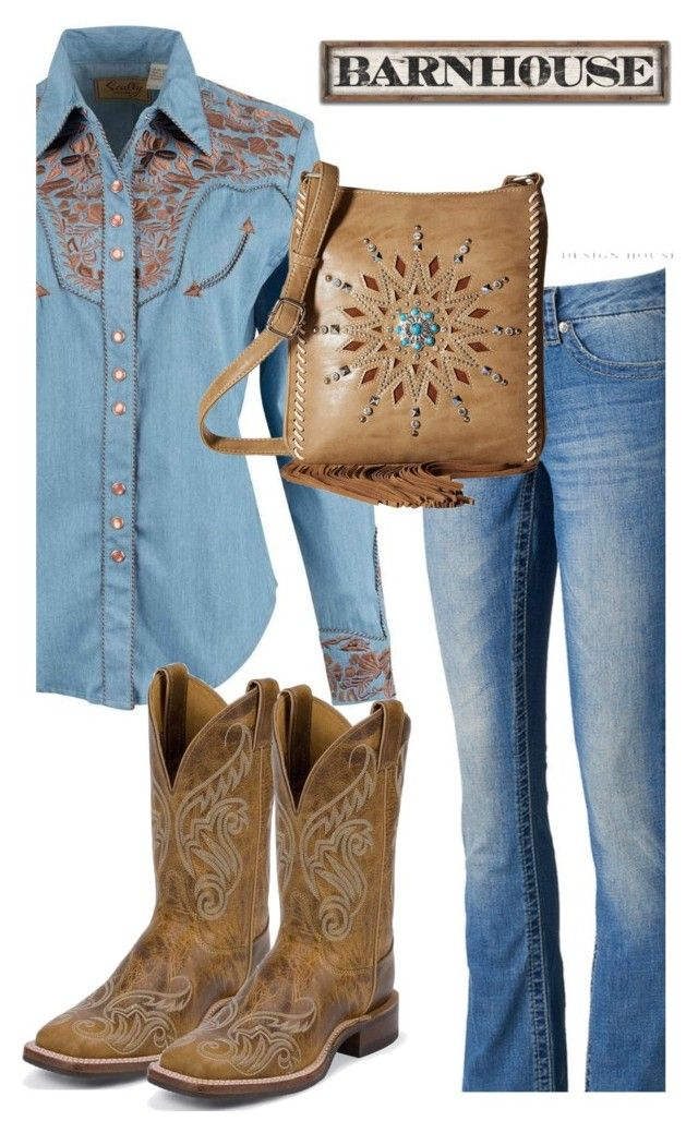 """""""Untitled #433"""" by earthspalette ❤ liked on Polyvore featuring Scully, Seven7 Jeans and M&F Western"""