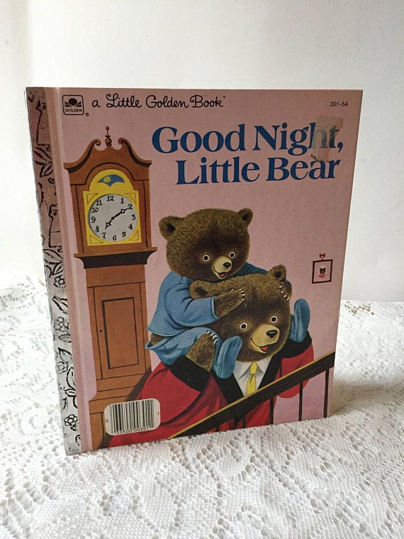 Vintage Little Golden Book Goodnight Little Bear, Vintage Children's Book, Vintage Little Golden Book, Vintage Bear Book, Goodnight Bear