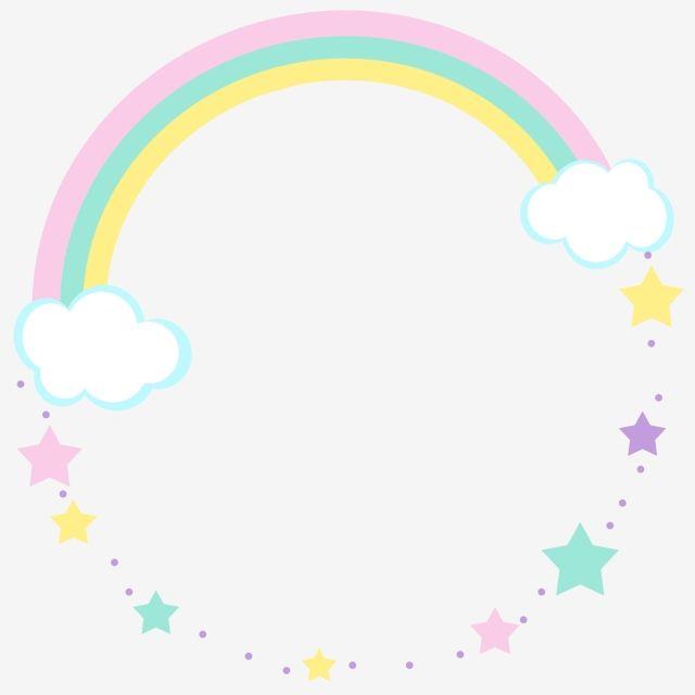Border Texture Childrens Day Lovely Childlike Rainbow Star White Clouds Rainbow Cartoon Border Design Star Clipa Rainbow Cartoon Rainbow Clipart Rainbow Design