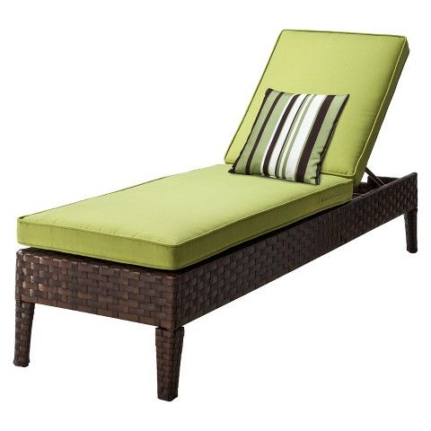 TARGET Belmont Brown Wicker Patio Chaise Lounge