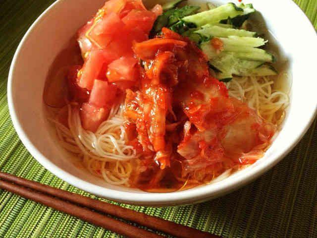 ぶっかけ韓国冷麺風そうめんの画像