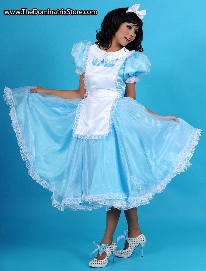 Alice In Wonderland Satin Long Sissy Dress Sissy Dresses