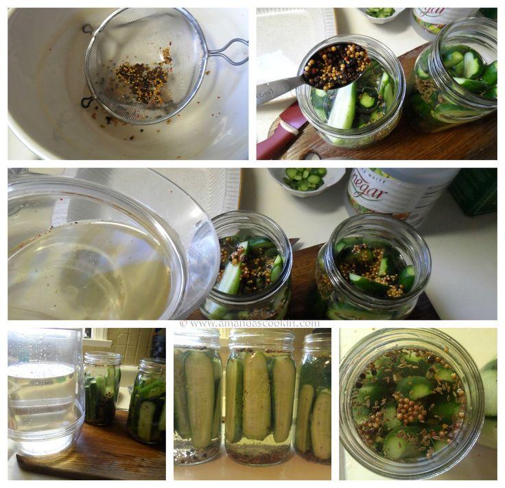 Homemade Claussen Pickles Copycat steps - AmandasCookin.com