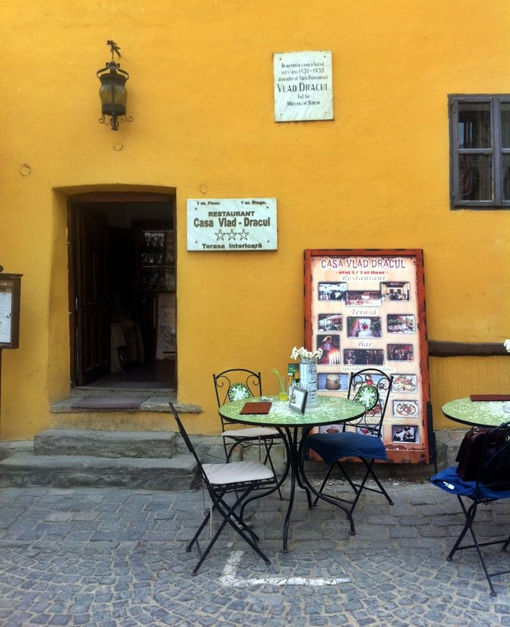 Small terrace in Sighisoara, Romania