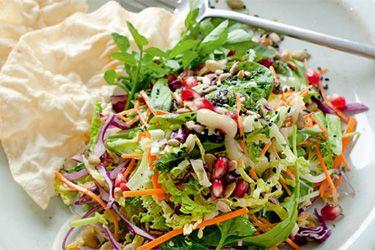 Raw energy salad with lemon dressing and poppadom – Recipes – Bite