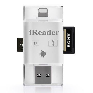 iDragon 3 In 1 TF SD Card Reader Adapter For Lightning Micro USB For iOS iPhone iPad Android Samsung PC Sale - Banggood.com