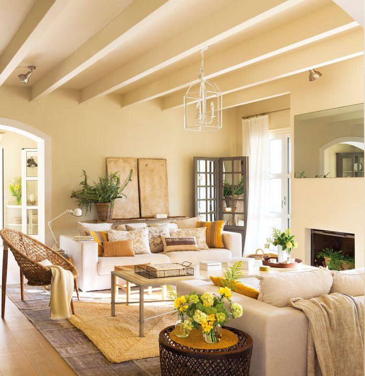 M s de 1000 ideas sobre sof beige en pinterest aparador for Sala de estar marron