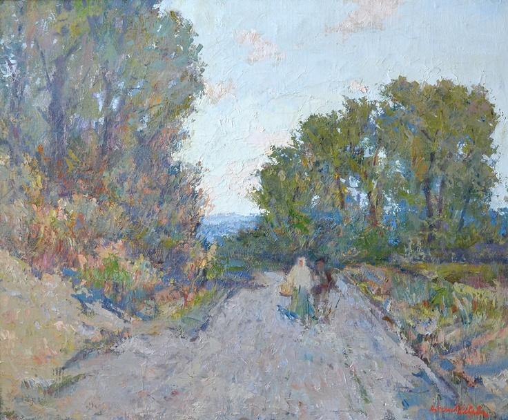 Adam Bălțatu - Drum la Câmpulung    Lucrarea face parte dintr-o serie de 6 picturi, confiscate în perioada comunistă și recuperate recent de la Muzeul Municipiului București.