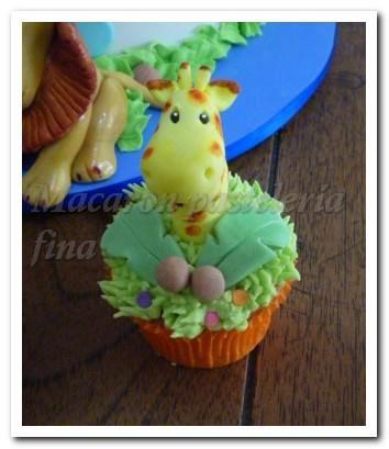 Cupcake Animalitos de la selva.