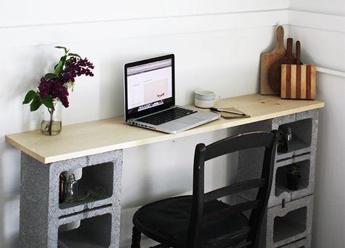 Diy muebles incre bles hechos con bloques de cemento for Muebles con ladrillos