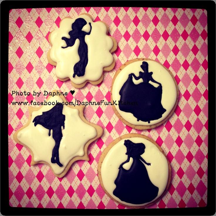 Disney princess silhouette cookies
