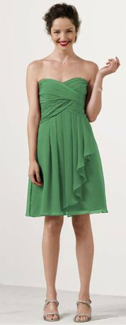 Shop David&39s Bridal bridesmaid dresses in Clover green: I like ...