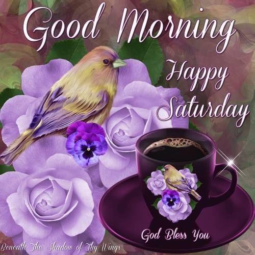 Good Morning, Happy Saturday