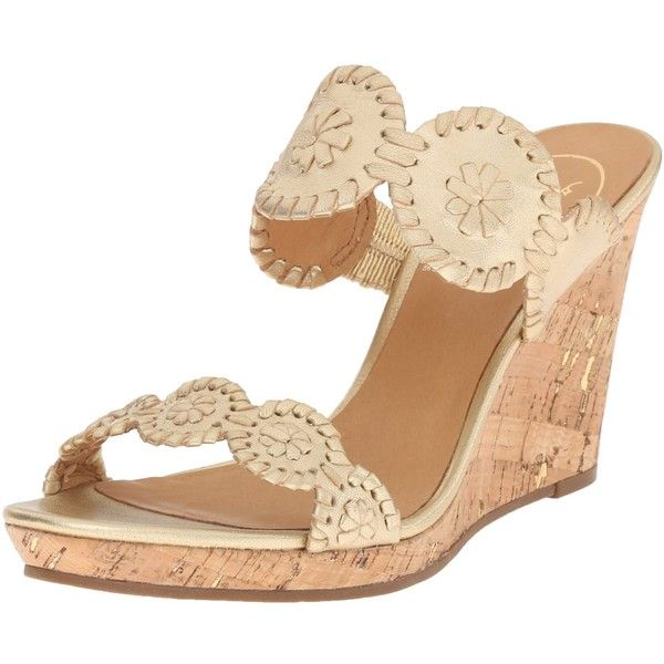 Jack Rogers Women's Luccia Wedge Sandal ($93) ❤ liked on Polyvore featuring shoes, sandals, cork wedge shoes, wedge heel sandals, jack rogers, wedges shoes and cork wedge heel sandals