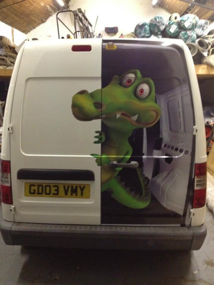 great van door graphics!                                                                                                                                                                                 More
