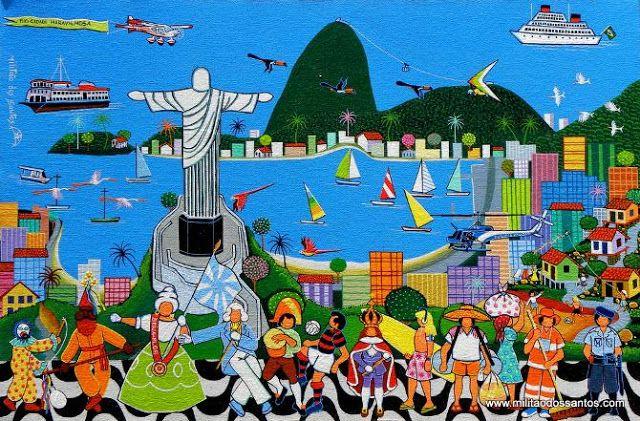 A Jurubeba Cultural: Rio de Janeiro. Cidade Olímpica.                             A Arte  naïf  de Militão dos Santos.