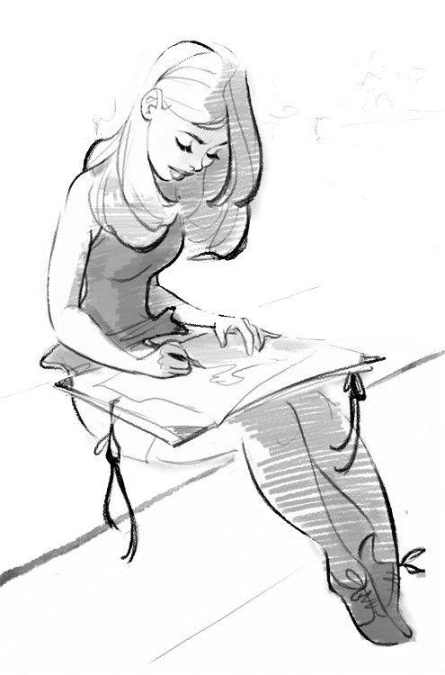 De 118 b sta pretty girl bilderna p pinterest ritid r for How to draw a girl looking down