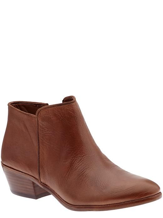 leather booties by same edelman