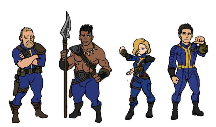Fallout protagonists(from left) Vault dweller, Choosen one, Lone wanderer, Sole survivor