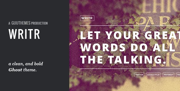 Writr - A Clean, Bold Ghost Theme - Ghost Themes Blogging