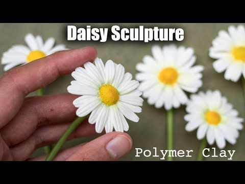 Where I show how to sculpt polymer clay daisy flower using polymer clay. All my tools : https://youtu.be/oqph9A56p38 ↠ Help me make more videos and art : htt...