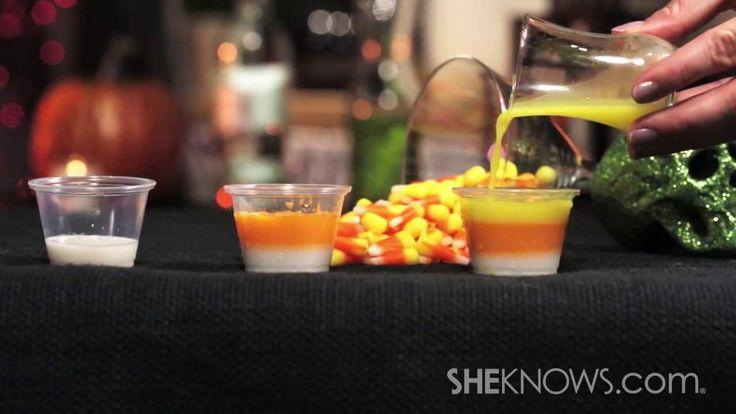 Make Candy Corn Jello Shots