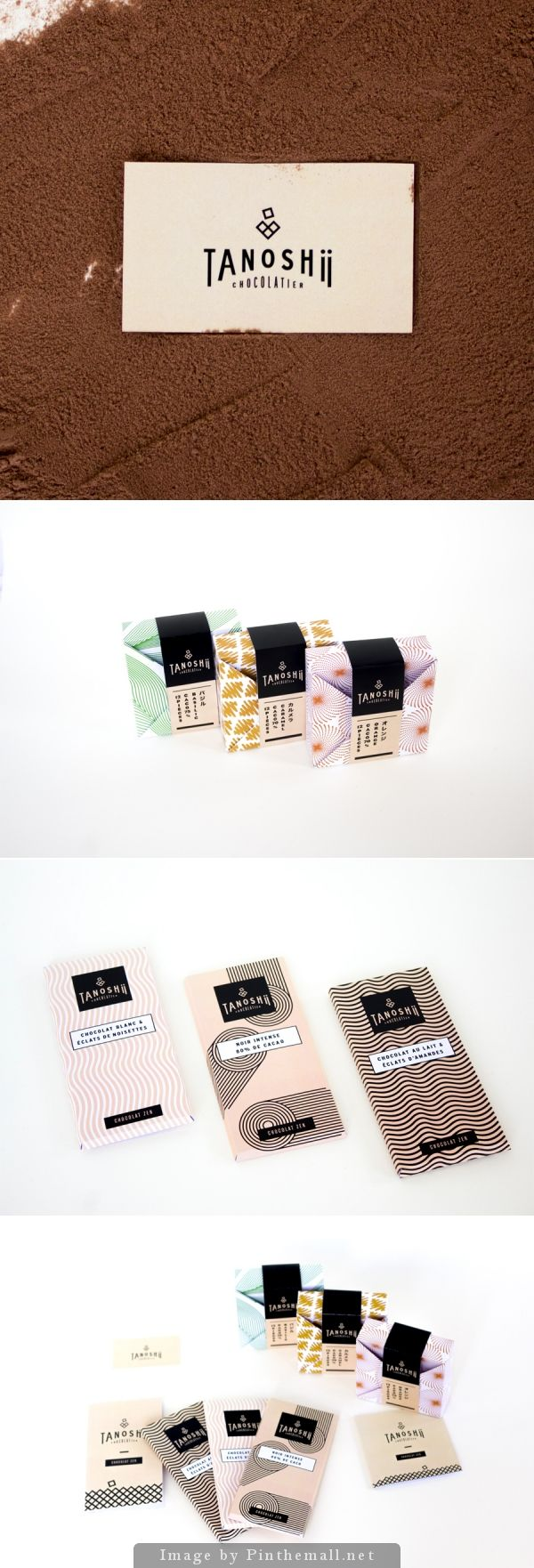 Tanoshii Chocolate (student project) great packaging PD